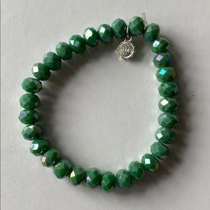 Lizas green crystal bracelet